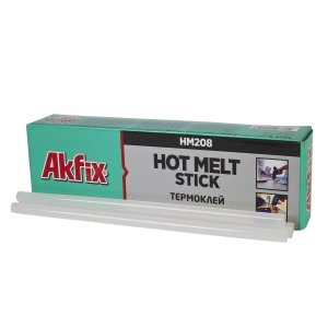 Akfix - HM208 Hot Melt Stick - Cola em Barra - Diametro 11mm - (HM208-11-1-TR) Bastão Cola Quente