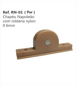 Perfil - Chapéu Napoleão com roldana nylon - RN-01 - 6mm