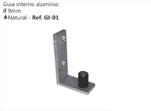 Perfil - Guia - GI-01 - Interno de Aluminio 9 mm
