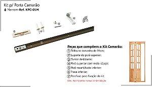Perfil - Kit p/ Porta de Correr - KPC-01-M - Porta Camarão Marrom, Perfil 91 cm