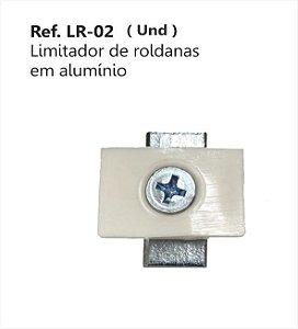 Perfil - Roldana - LR-02 - Limitador de roldanas em alumínio