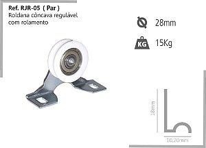Perfil - Roldana - RJR-05 - Rodizio côncava regulável com rolamento