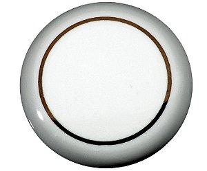 Italy Line - Puxador Filete Dourado - p/ móveis, armários e gavetas - 37mm - Cerâmica - (IL7064)