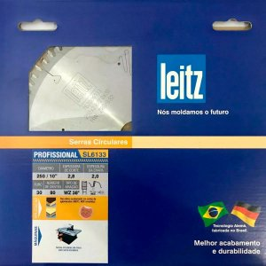 Leitz - Disco de Serra Circular - SL6133 - HW 250 x 2,8 / 2x F30 - 80z - WZ, p/ MDF