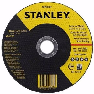 "Stanley - Disco Abrasivo de Corte Fino - Metal/Inox - 7"" x 1,6mmx 7/8"" - STA8067"