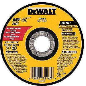 "Dewalt - Disco Abrasivo de Corte Fino - Metal/Inox - 4 1/2"" x 1,0mm x 7/8"""