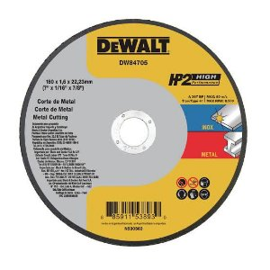 "Dewalt - Disco de Corte HP2 - Metal/Inox - 7"" x 1,6mm x 7/8"" - DW84705"