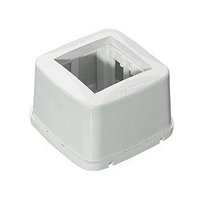 MEC-TRONIC -  Caixa Sobrepor PETRA - 2 Módulos - 75 x 75 x 48 - (PETRA-87011)