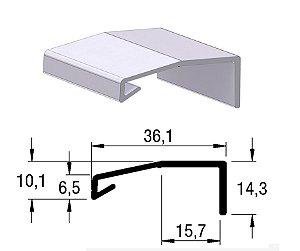 Alternativa - Perfil Puxador LINZ 15mm Anodizado Jateado 6,0 m