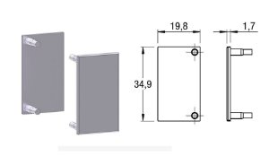 Alternativa - Ponteira 01 Lat 18mm Reta Inox Escovado 2013T, 4018T, 5013T, 6018T