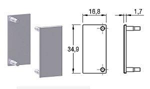Alternativa - Ponteira 02 Lat 15mm Reta Anodizado 4013T, 4016T, 4015TE, 6015T