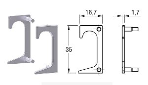 Alternativa - Ponteira 10 Lat 15mm 4016T Vazada Anodizado Par Direita e Esquerda