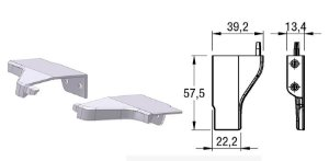 Alternativa - Ponteira 12 Lat 18mm AREZZO Cromado Par Direita e Esquerda
