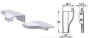 Alternativa - Ponteira 13 Lat 15mm LINZ Cromado Par Direita e Esquerda