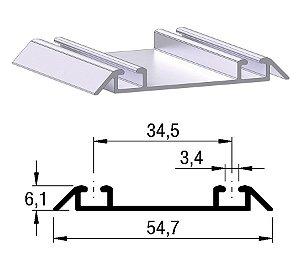 Alternativa - Trilho Inferior 2052 Inox Escovado 6,0 m