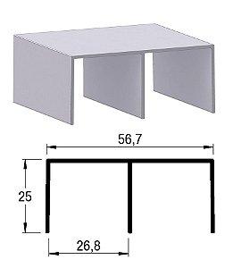 Alternativa - Trilho Superior 2055 Inox Escovado 6,0 m