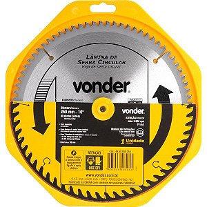 VONDER - Lâmina de Serra Circular - c/ Videa - 250mm x 30mm x 80 dentes
