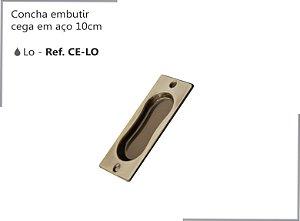 PERFIL - Concha Cega Embutir 10cm - CE-LO - Aço - Acabamento LO