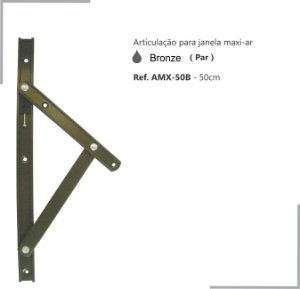 PERFIL - Maxi-Ar - AMX-50B - Articulação p/ Janela 50cm - Bronze
