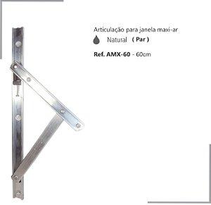 PERFIL - Maxi-Ar - AMX-60 - Articulação p/ Janela 60cm - Natural