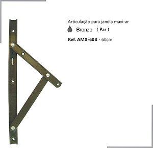 PERFIL - Maxi-Ar - AMX-60B - Articulação p/ Janela 60cm - Bronze