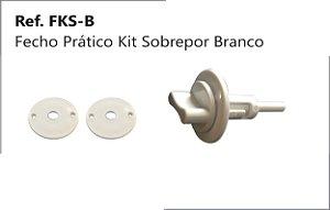 PERFIL - Fecho Prático Branco - FKS-B - Kit Sobrepor