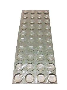 Criativa - Batente de Silicone Redondo - 08mm - Transparente - 1 Cartela