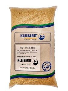 Kleiberit - Cola Granulada Hot Melt Bege Transparente 773.3 00 - 2kg - p/ Coladeiras de Bordos - ABS, Melamina, PVC
