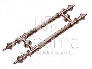 Criativa Maxima - Puxador p/ Porta MAX827 - 600mm - Inox/Alumínio - Cobre Rústico