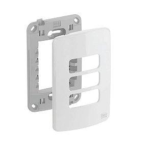 WEG - Composé - Placa e Suporte 4x2 - 3 Posições - Branco