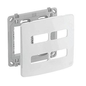 WEG - Composé - Placa e Suporte 4x4 - 4 Posições (2  2) - Branco