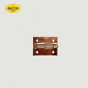 Biacchi - Dobradiça p/ Artesanato - 15 x 11mm Furo 1,20 - Aço Latonado - DB5055-15ALT