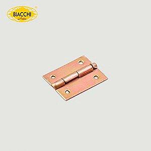 Biacchi - Dobradiça p/ Artesanato - 15 x 11mm Furo 1,20 - Aço Zinco Amarelo - DB5055-15AZA