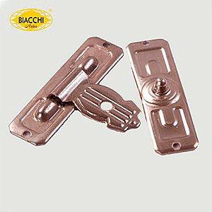 Biacchi - Fecho p/ Artesanato 5120/25 - Furo Pequeno - Latão Niquelado