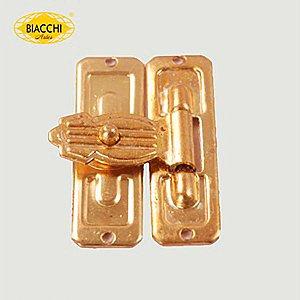 Biacchi - Fecho p/ Artesanato 5120/25 - Furo Pequeno - Latão Polido