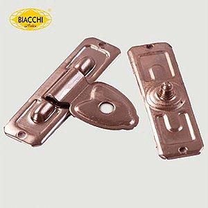 Biacchi - Fecho p/ Artesanato 5200 - Furo Pequeno - Latão Niquelado