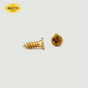 Biacchi - Parafuso Cabeça Chata - 7 x 2,20mm - Aço Latonado
