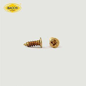 Biacchi - Parafuso Cabeça Chata - 7 x 2,20mm - Aço Zinco Amarelo