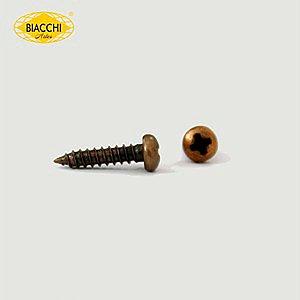 Biacchi - Parafuso Cabeça Panela - 10 x 2,20mm - Aço Ouro Velho