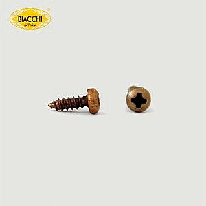 Biacchi - Parafuso Cabeça Panela - 6,5 x 2,20mm - Aço Ouro Velho