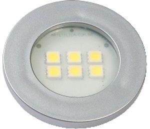 Artetílica Nuze - Luminária Pontual Circular - 6 Super LED 3000K - 110/220V Alumínio - E315.A