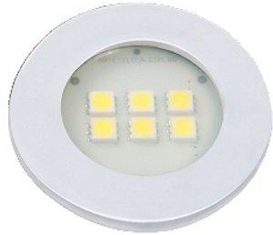 Artetílica Nuze - Luminária Pontual Circular - 6 Super LED 3000K - 110/220V Branco - E315.B