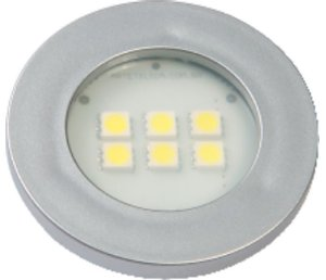 Artetílica Nuze - Luminária Pontual Circular - 6 Super LED 6000K - 110/220V Alumínio - E515.A
