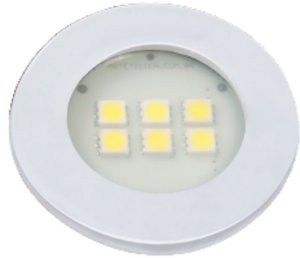 Artetílica Nuze - Luminária Pontual Circular - 6 Super LED 6000K - 110/220V Branco - E515.B