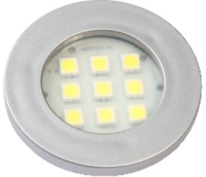 Artetílica Nuze - Luminária Pontual Circular - 9 Super LED 3000K - 110/220V Alumínio - E311.A