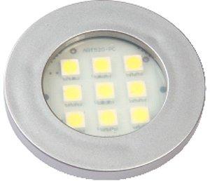 Artetílica Nuze - Luminária Pontual Circular - 9 Super LED 6000K - 110/220V Alumínio - E511.A