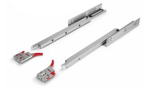 Hardt - Corrediça de Embutir Soft Closing 30kg - 35cm - Galvanizado/Zincado - B3101ZN (Invisível / Oculta)