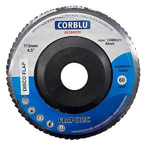 """CORBLU - Disco de Desbaste Flap 4.1/2"""" - 115mm - Grão 60"""