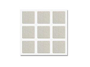 Bemfixa - Protetor Adesivo de Feltro Quadrado Branco - 25 x 25mm - 12 unid.