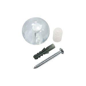 Bemfixa - Batente p/ Porta - Bola - Transparente - Cartela c/ 1 unid. + Apetrechos Fixação